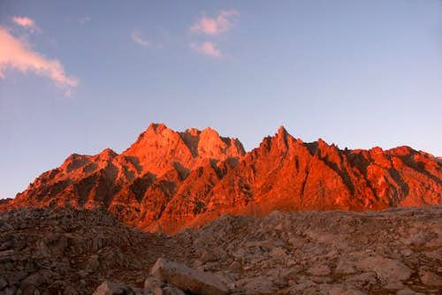 Sunset alpenglow on Mt....