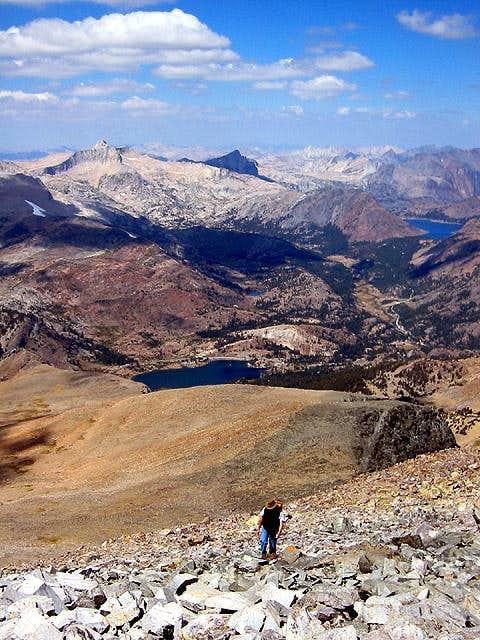 Approaching Dana summit,...