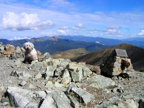 The summit of Wheeler Peak
