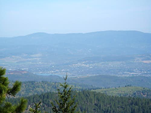 View to the north from near Cobb Mountain Summit
