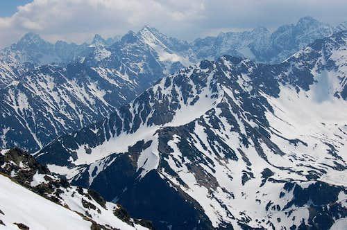 High Tatras from Krzyzne Pass