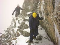 Traverse Ledge into Couloir