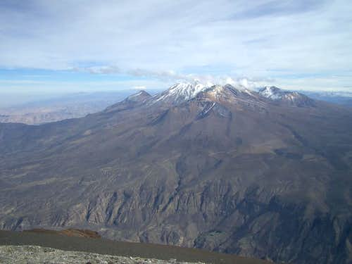 Chachani from the Summit of El Misti