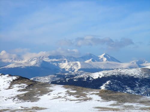 Grays and Torreys from James Peak