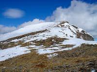 Upper slopes on the east face of James Peak
