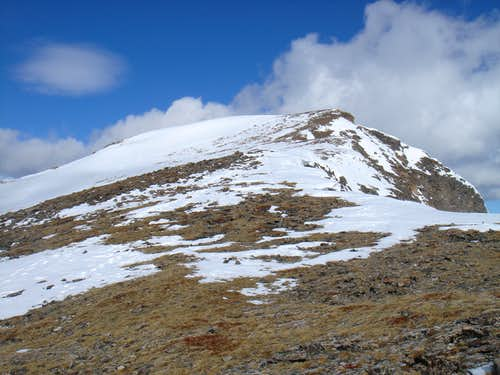 Upper slopes on the east face of James Peak