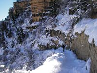 Crampons Required the Rangers said, Bright Angel Trail