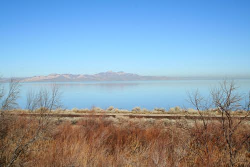 View of Stansbury Island from I-80