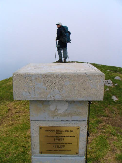The top of Golica