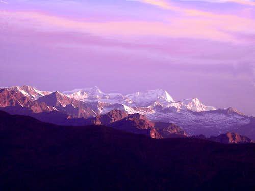 scenic sunrise on Strahlhorn