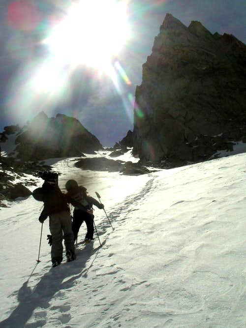 climbing east couloir