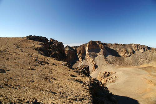 The western opening of the Pico Viejo Crater