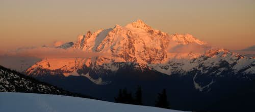 Sunset and our beloved Shuksan