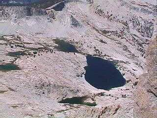 Sphinx Lakes from summit of...