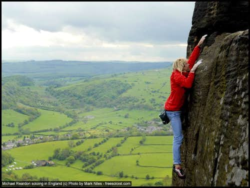 Michael Reardon soloing the Grit in England