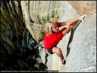 Michael Reardon soloing Romantic Warrior at the Needles, CA