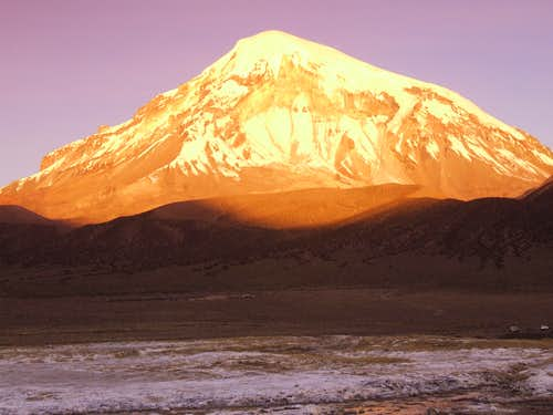 sundown at Sajama