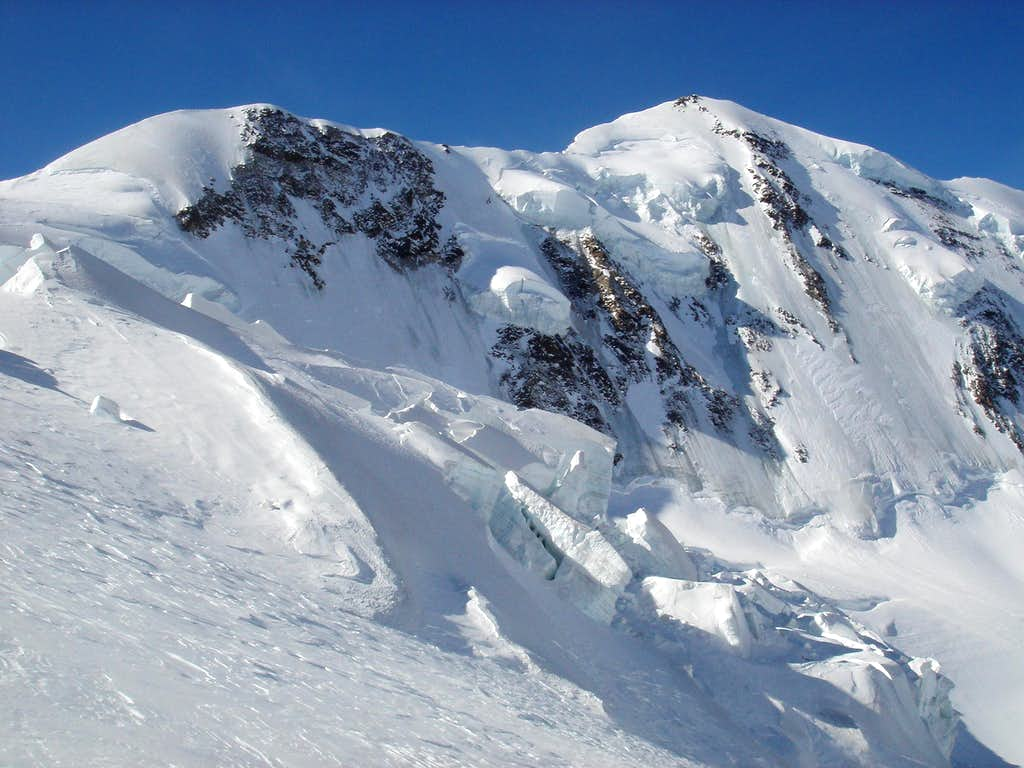 Lyskamm form Grenz glacier