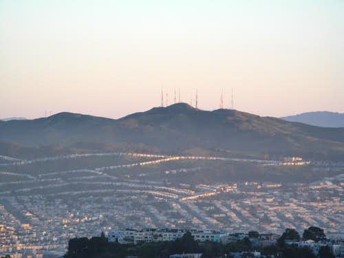 San Bruno Mountain from Twin Peaks