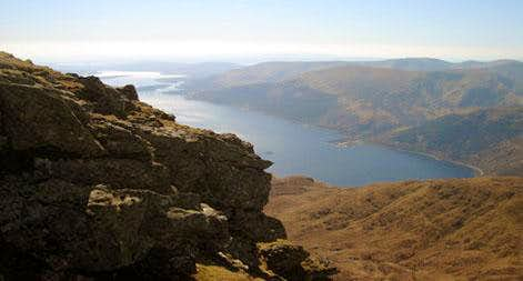 Jaggy outcrops over Loch Lomond