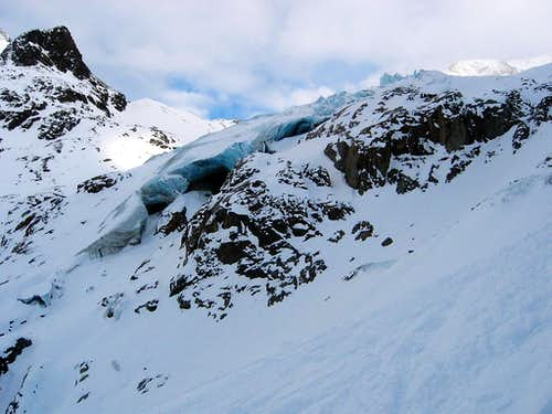 Ice caves on the Taschach Glacier
