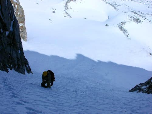 MikeSash lower down on the NE couloir
