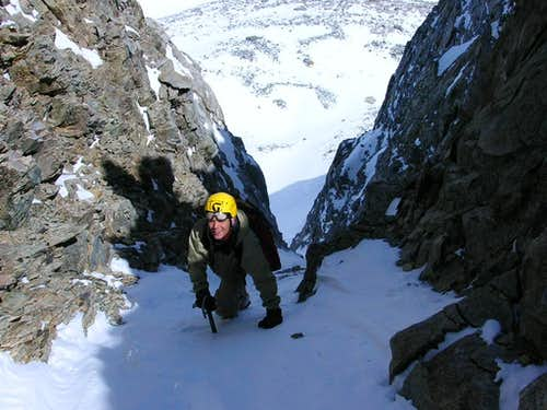 MikeSash glad to top out on Diamond\'s NE couloir
