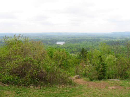 Overlook on the road leading up to the summit of Dowdell\'s Knob