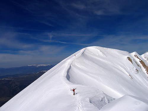 Joy running Portella ridge!