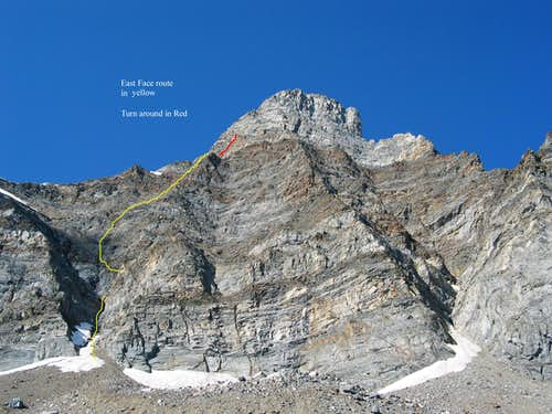 East Face of Old Hyndman peak