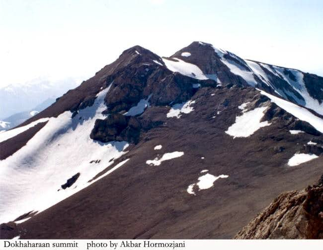 Dokhaharaan peak, view from...