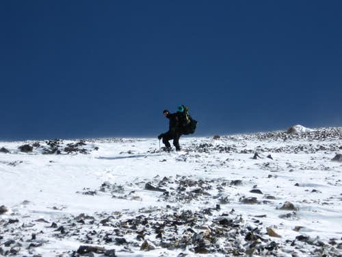 Descending the West Face
