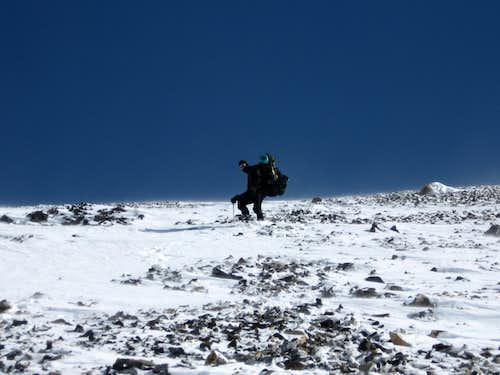 Descending the West Face