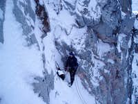 Third couloir transition belay