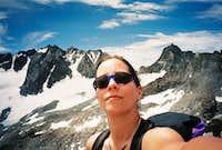 Self-portrait on the summit of Mt. Robinson