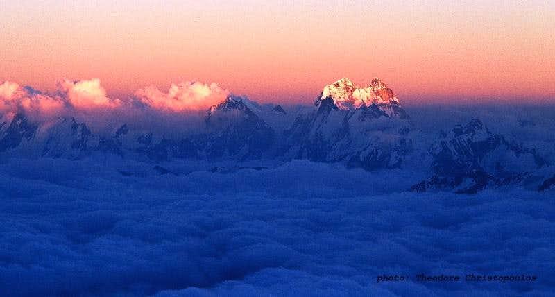 Ushba shown from Elbrus
