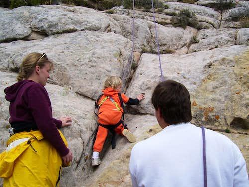 Sahylee's First Rock Climb
