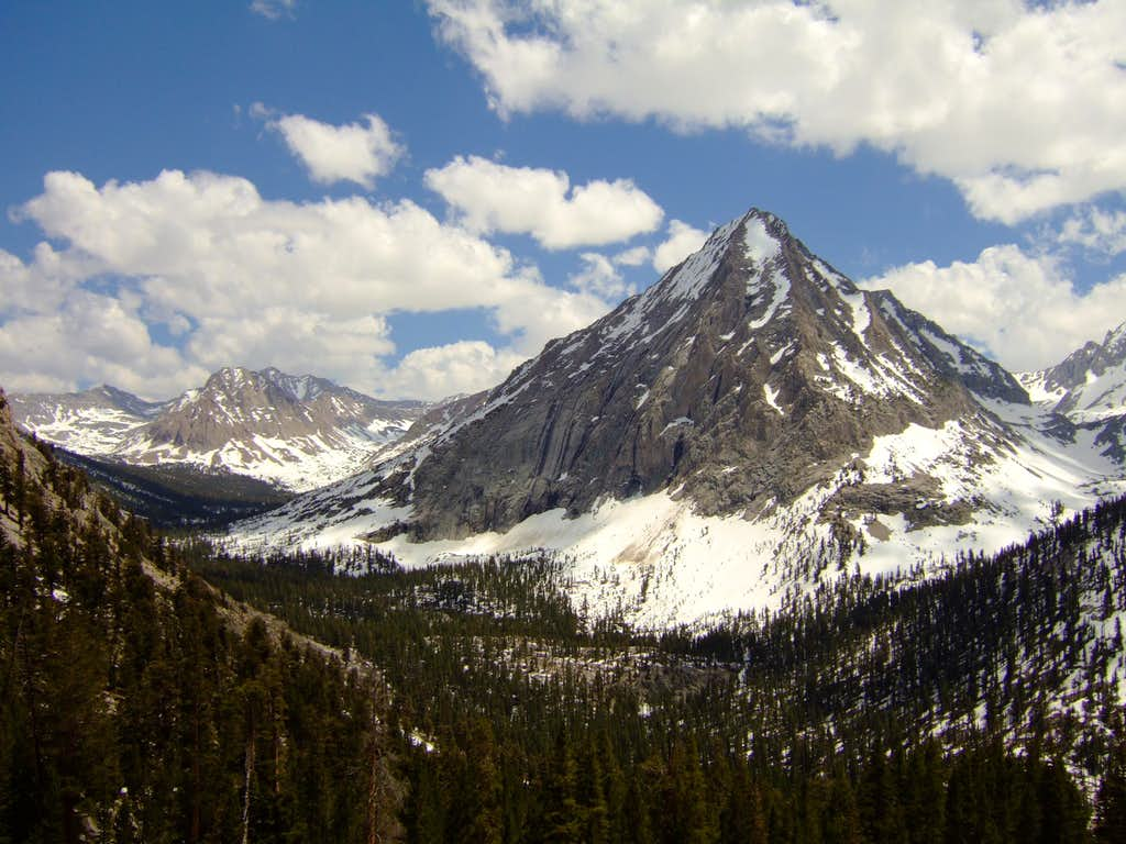 North view of East Vidette from JMT