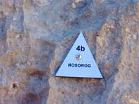 Nosorog plate at the start of the route