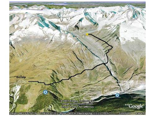 Route to Oberaletsch hut