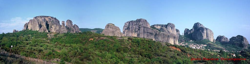 A panoramic view of Meteora