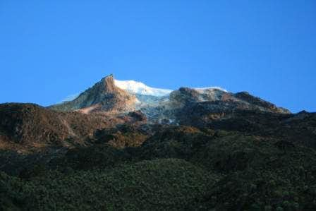 A General View of the South Face of Nevado del Tolima