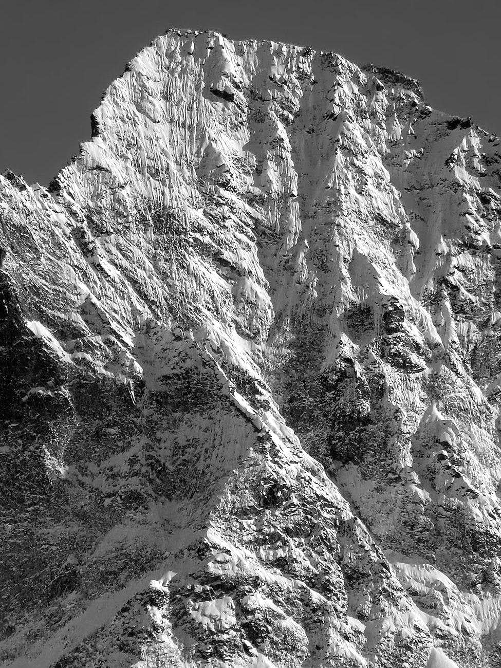 Monte Emilius (3559 m), parete nord