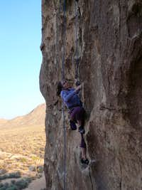 Climbing on Echo Rocks