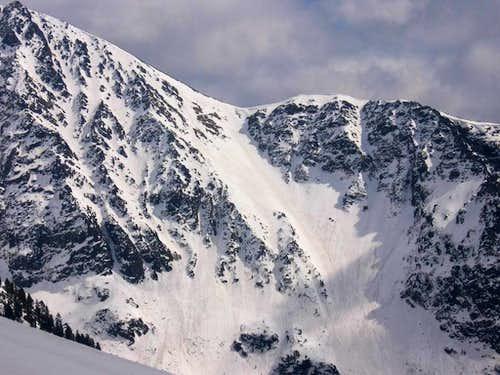 Path to Ostrva under snow