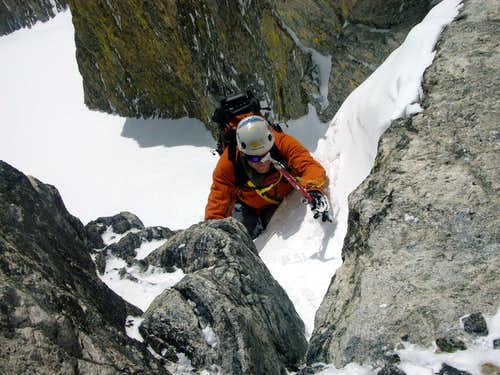Jeff at the Crux
