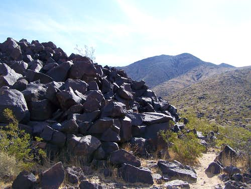 View of Black Mountain along the trail