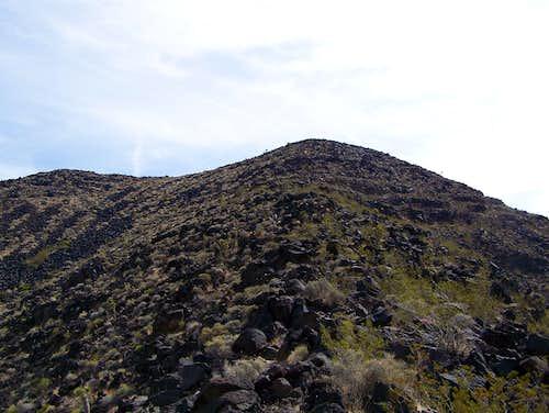 Just below summit