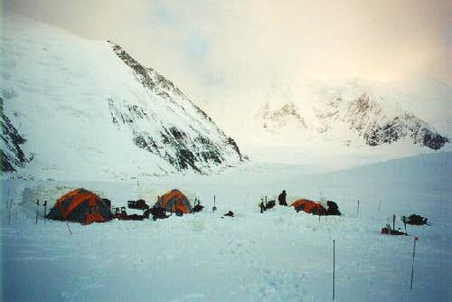 A camp on the Brooks glacier