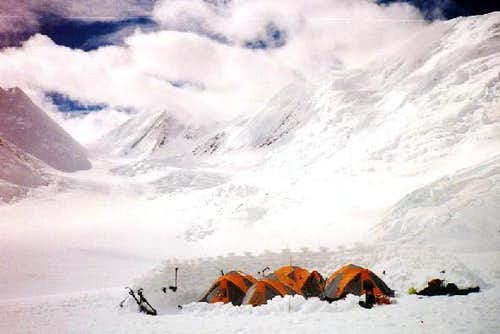 A camp on the Brooks glacier...